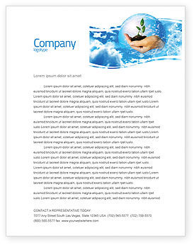 Nature & Environment: Save World Letterhead Template #05558