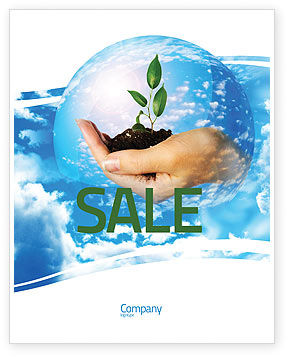 Save World Sale Poster Template, 05558, Nature & Environment — PoweredTemplate.com