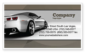 Cars/Transportation: Car Business Card Template #05566