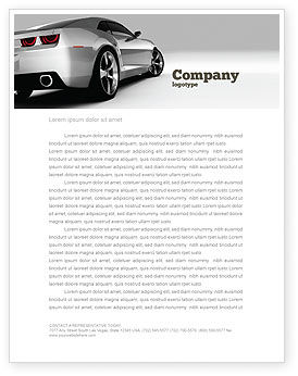 Cars/Transportation: Car Letterhead Template #05566
