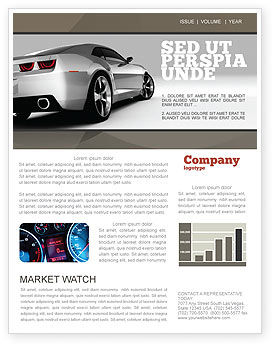 Cars/Transportation: Car Newsletter Template #05566