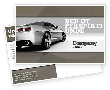 Cars/Transportation: Car Postcard Template #05566
