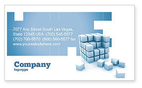 Construction: Cube Business Card Template #05571