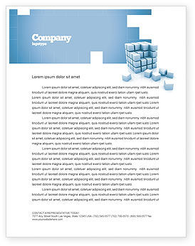 Construction: Cube Letterhead Template #05571