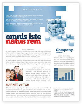 Construction: Cube Newsletter Template #05571