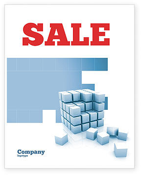 Construction: Cube Sale Poster Template #05571