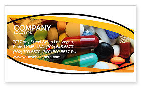 Drug Treatment Business Card Template, 05572, Medical — PoweredTemplate.com