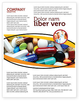 Drug Treatment Flyer Template, 05572, Medical — PoweredTemplate.com