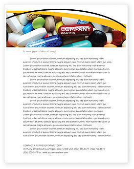 Drug Treatment Letterhead Template, 05572, Medical — PoweredTemplate.com