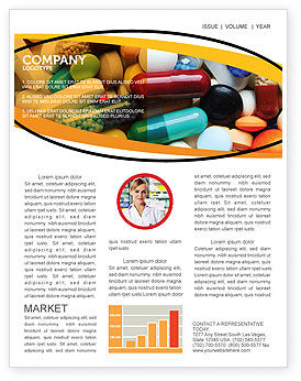 Drug Treatment Newsletter Template, 05572, Medical — PoweredTemplate.com