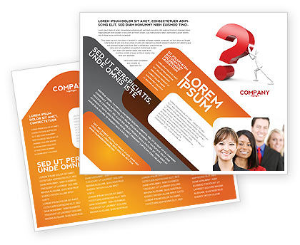 Question Brochure Template, 05578, Consulting — PoweredTemplate.com