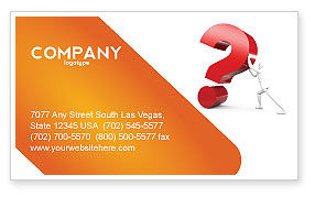 Question Business Card Template, 05578, Consulting — PoweredTemplate.com