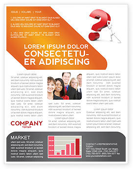 Question Newsletter Template, 05578, Consulting — PoweredTemplate.com