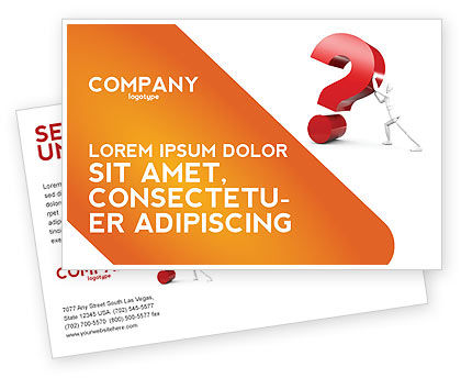 Question Postcard Template, 05578, Consulting — PoweredTemplate.com