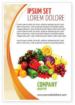 Agriculture and Animals: Fruit En Groenten Advertentie Template #05579