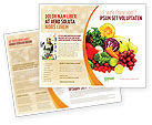 Agriculture and Animals: Plantilla de folleto - frutas y vegetales #05579