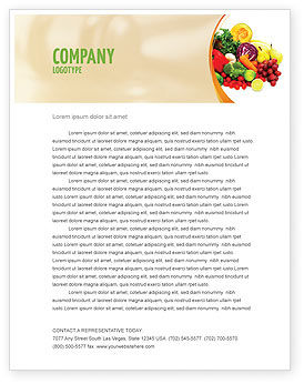 Fruits and Vegetables Letterhead Template, 05579, Agriculture and Animals — PoweredTemplate.com