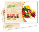 Agriculture and Animals: Fruits and Vegetables Postcard Template #05579