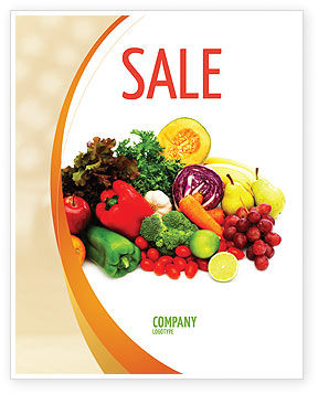 Agriculture and Animals: Fruits and Vegetables Sale Poster Template #05579