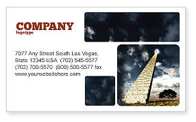 Business Concepts: Stairway To Heaven Business Card Template #05581