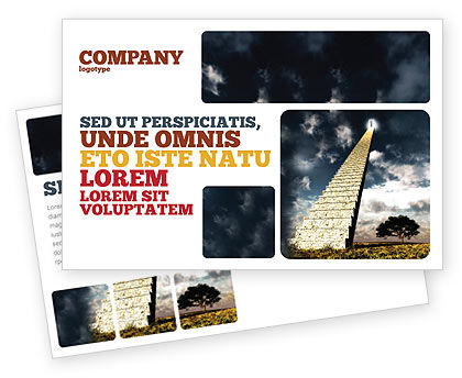Business Concepts: Stairway To Heaven Postcard Template #05581