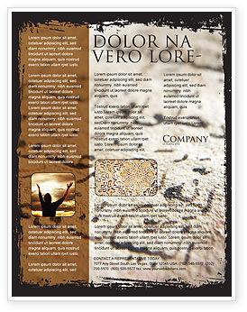Arabic Flyer Template, 05584, Religious/Spiritual — PoweredTemplate.com