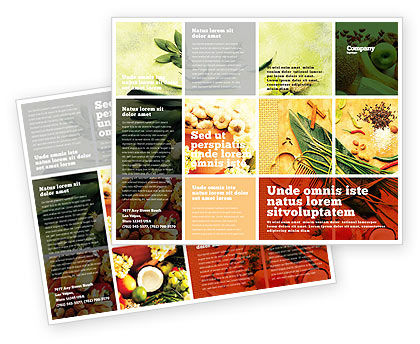 Gifts of Nature Brochure Template, 05587, Food & Beverage — PoweredTemplate.com