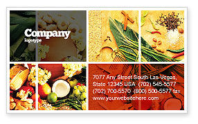 Gifts of Nature Business Card Template, 05587, Food & Beverage — PoweredTemplate.com