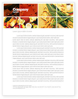 Gifts of Nature Letterhead Template, 05587, Food & Beverage — PoweredTemplate.com