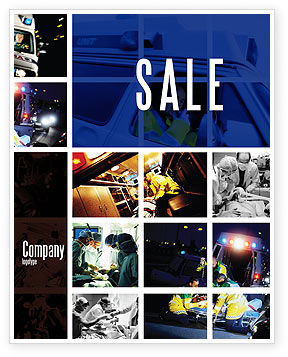 Medical: Ambulance Emergency Sale Poster Template #05590