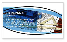 Construction: Office Building Planning Business Card Template #05599