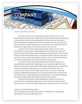 Office Building Planning Letterhead Template, 05599, Construction — PoweredTemplate.com