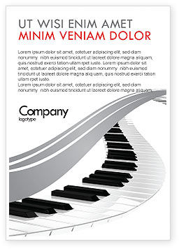 Piano Ad Template for Advertising Needs, ID 05616 | PoweredTemplate.com