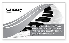 Careers/Industry: Piano Business Card Template #05616