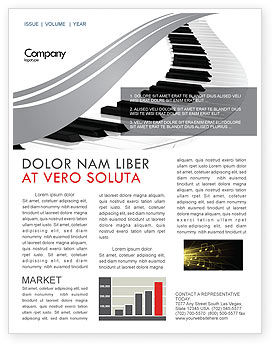 Piano Newsletter Template, 05616, Careers/Industry — PoweredTemplate.com
