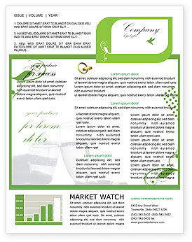 Holiday/Special Occasion: Engagement Newsletter Template #05619