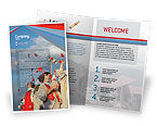 Education & Training: Graduation In Red Blue Colors Brochure Template #05620
