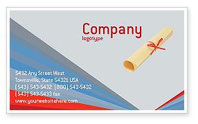 Graduation In Red Blue Colors Business Card Template