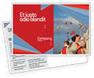Education & Training: Graduation In Red Blue Colors Postcard Template #05620