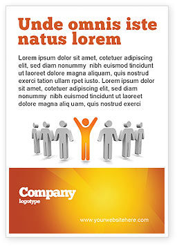 Careers/Industry: Orange Winner Ad Template #05622