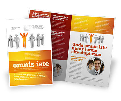 Orange Winner Brochure Template, 05622, Careers/Industry — PoweredTemplate.com