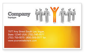 Careers/Industry: Orange Winner Business Card Template #05622