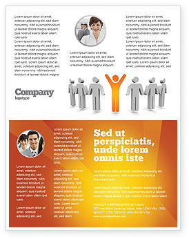 Careers/Industry: Orange sieger Flyer Vorlage #05622