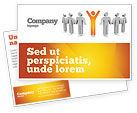 Careers/Industry: Orange Winner Postcard Template #05622