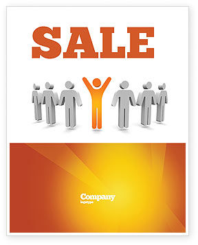 Careers/Industry: Orange Winner Sale Poster Template #05622