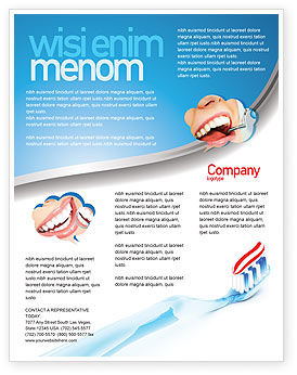 toothpaste flyer template background in microsoft word publisher