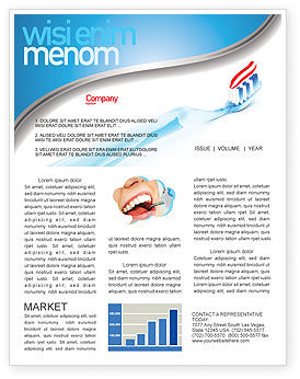 Medical: Toothpaste Newsletter Template #05623