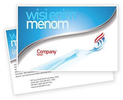 Medical: Toothpaste Postcard Template #05623