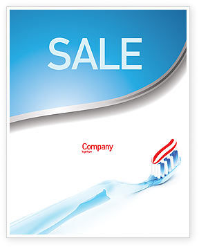 Medical: Toothpaste Sale Poster Template #05623