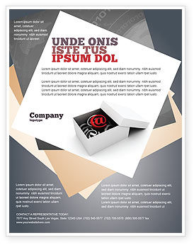 Email Shipping Flyer Template, 05624, Careers/Industry — PoweredTemplate.com